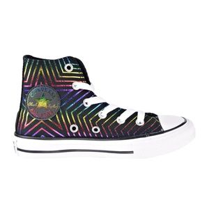 Converse Metallic Rainbow Star Hi-Top Sneakers
